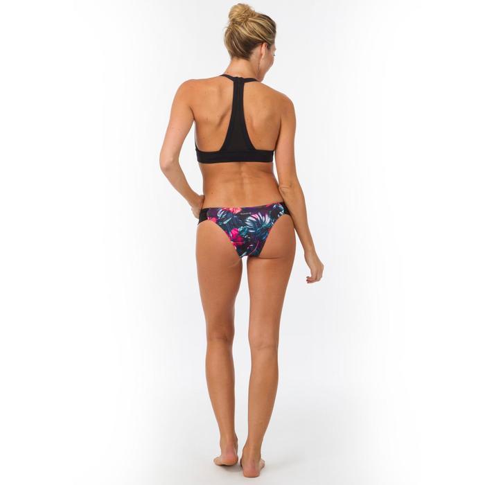 Top Bikini Surf Sujetador Transparencias Olaian Ajuste Espalda Isa Mujer Negro