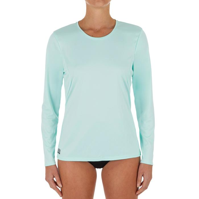UV-Shirt langarm Surfen Damen koralle/hellgrün