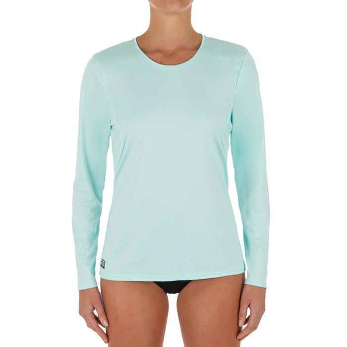 WATER tee SHIRT anti UV surf Manches longues femme corail vert clair
