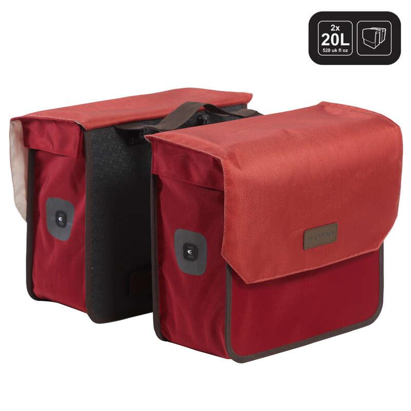 TÁSKÁK VÁROSI KERÉKPÁRHOZ Kerékpározás - Dupla kerékpáros táska 520-as ELOPS - Kerékpár kiegészítők