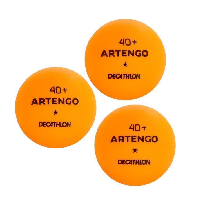 Set van 2 batjes TTR 100 3* allround en 3 oranje balletjes TTB 100* 40+