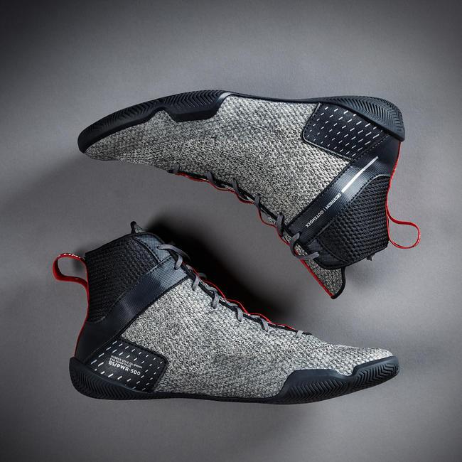 Lightweight Flexible Boxing Shoes 500 - Grey