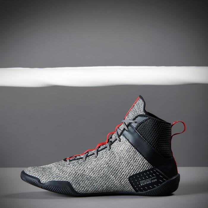 Lightweight Flexible Boxing Shoes 500 - Grey