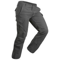 Pantalón trekking TRAVEL 100 warm hombre gris