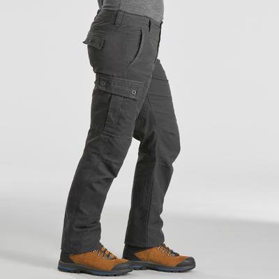 Pantalon de trek voyage - TRAVEL 100 WARM gris homme