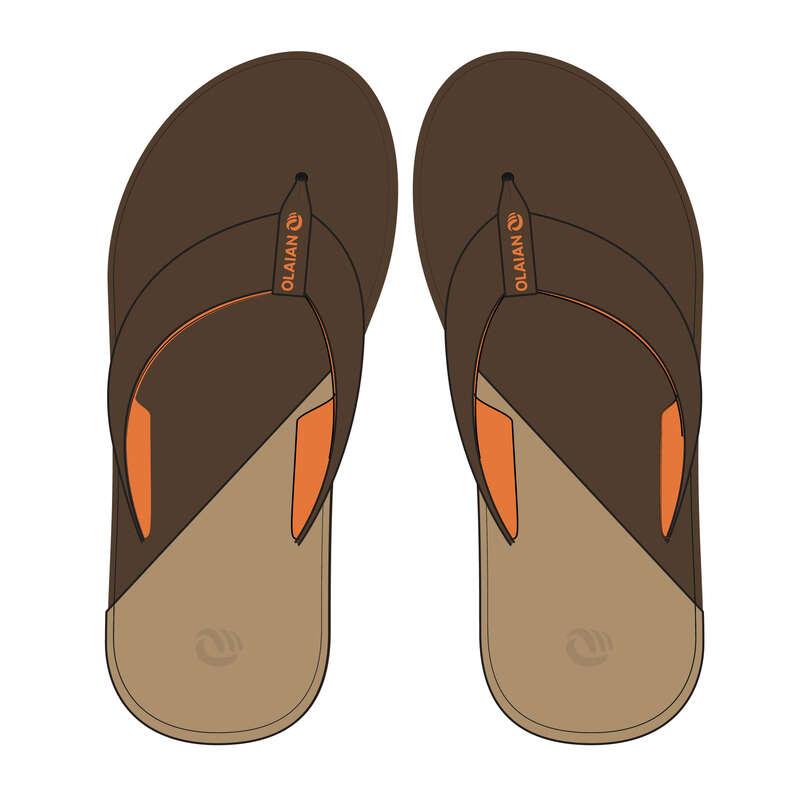 VÅTSKO JUNIOR Typ av sko - Flipflops 550 B JR brun OLAIAN - Flip-Flops