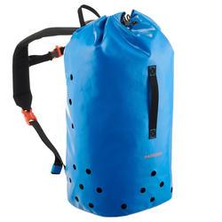 Rucksack wasserdicht Canyoning 25Liter blau