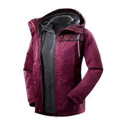 Chaqueta 3en1 trekking viaje TRAVEL 100 mujer rosa intenso