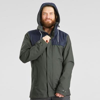 Чоловіча куртка Travel 100 для трекінгу, 3-в-1 - Хакі