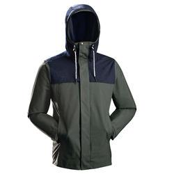 男款三合一旅行健行外套TRAVEL100-卡其色