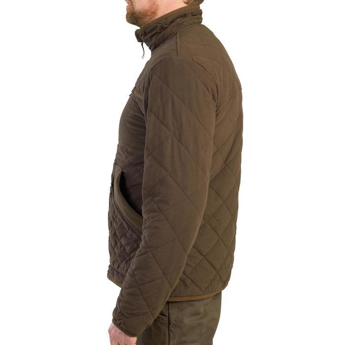 Veste matelassée silencieuse 500 marron.