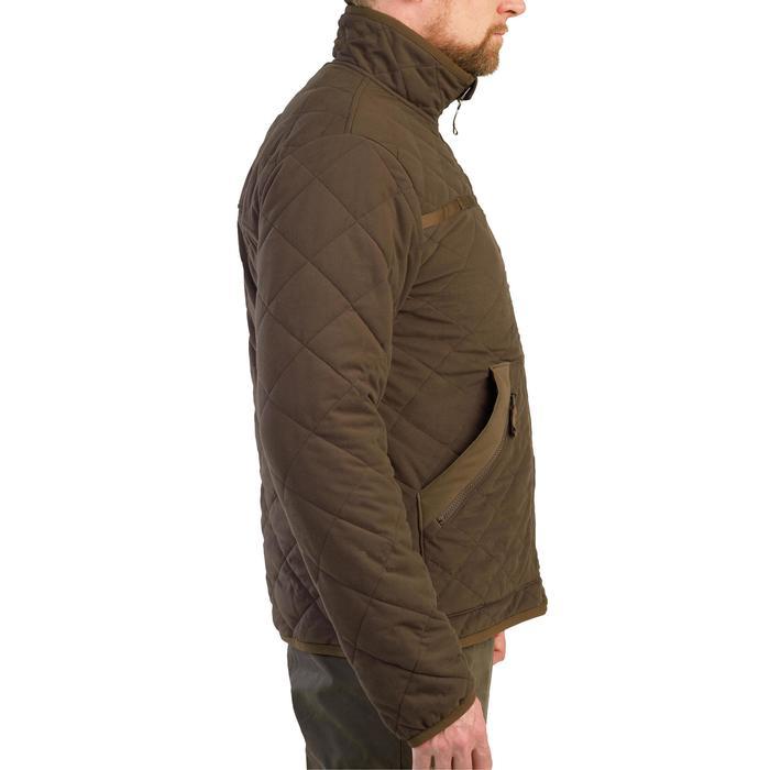 Veste matelassée chasse silencieuse 500 marron.