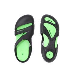 男款舒適泳池拖鞋NATASAB黑色綠色