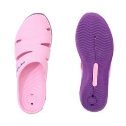 女款泳池拖鞋SCU 100 - 粉紅色紫色
