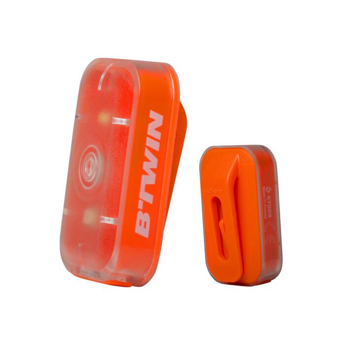 Fahrradbeleuchtung LED CL 500 Vorder- und Rücklicht orange USB