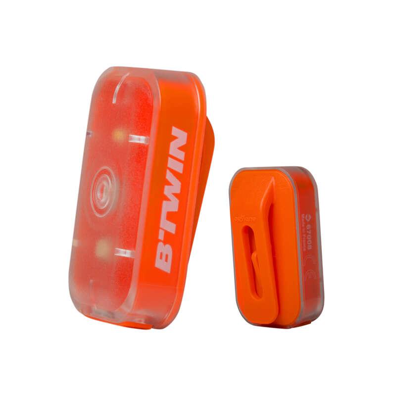Beleuchtung Lampen, Ferngläser - Fahrradlicht CL 500 orange BTWIN - Lampen, Beleuchtung