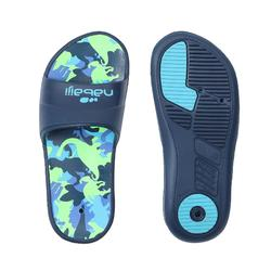 BOY'S SLAP 500 POOL SANDALS - BLUE