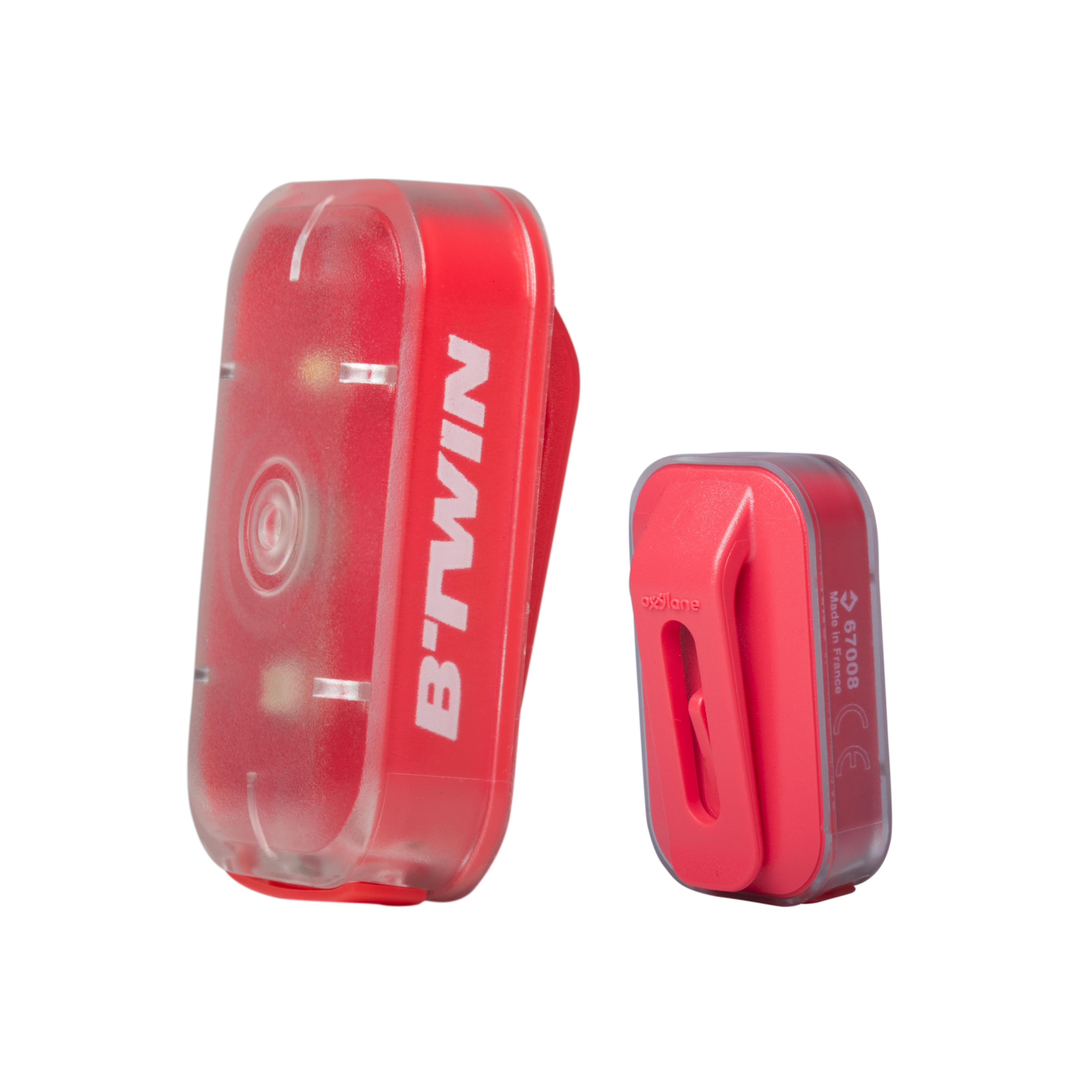 B'twin Verlichting voor-/achterlicht Vioo Clip 500 USB