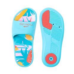 GIRL'S SLAP 500 POOL SANDALS PRINTED
