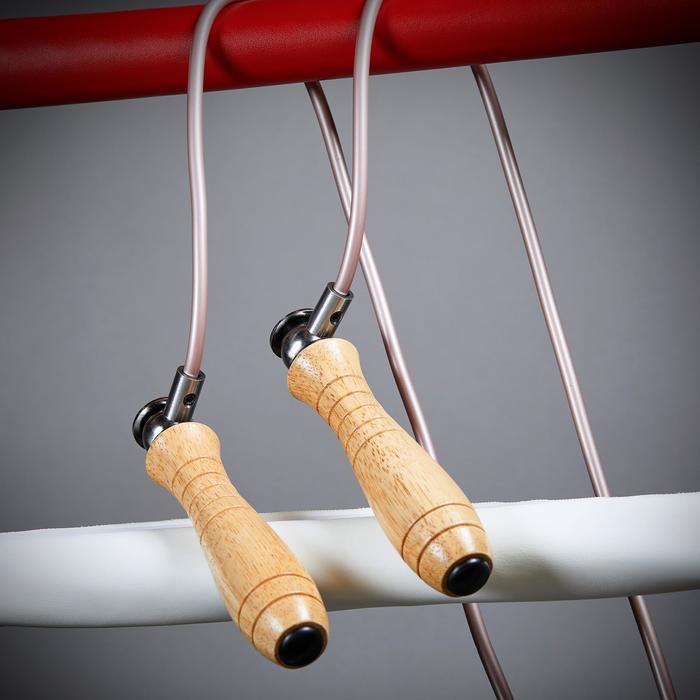 可調式加重木柄跳繩