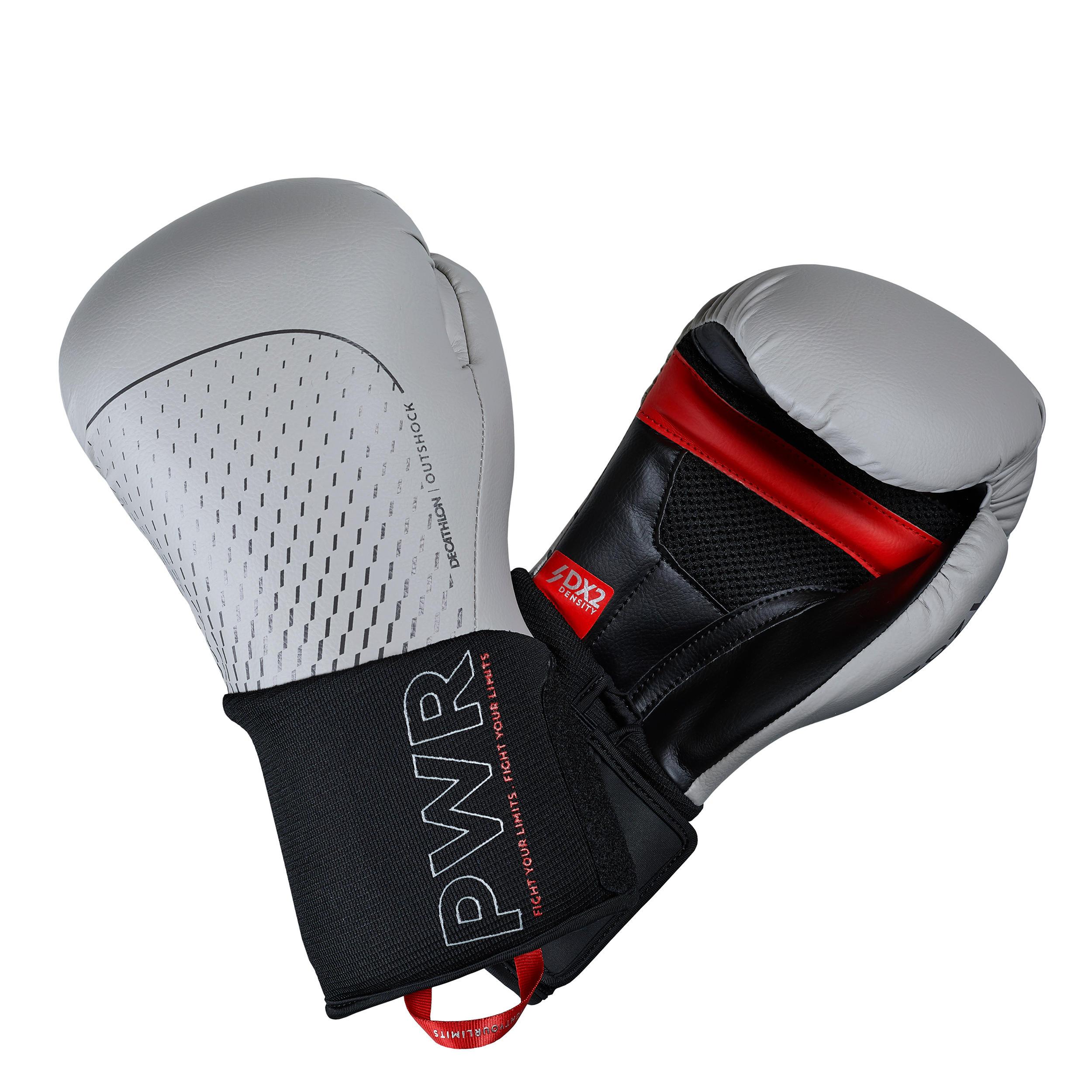 Outshock Bokshandschoenen 500 Ergo grijs, geschikt voor gevorderden