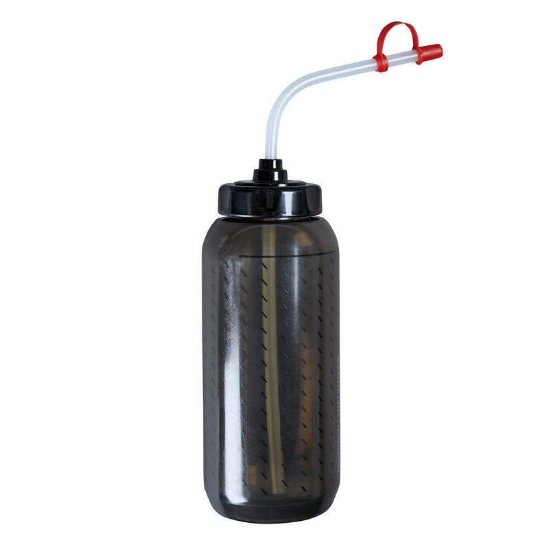 Boxing Water Bottle With Straw 850 ml - Black