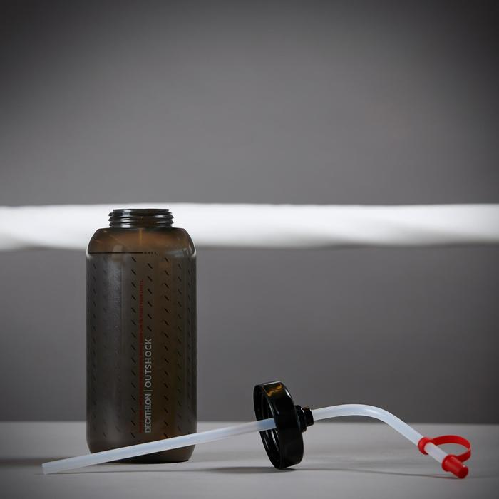 Drinkfles boksen 850 ml zwart met rietje