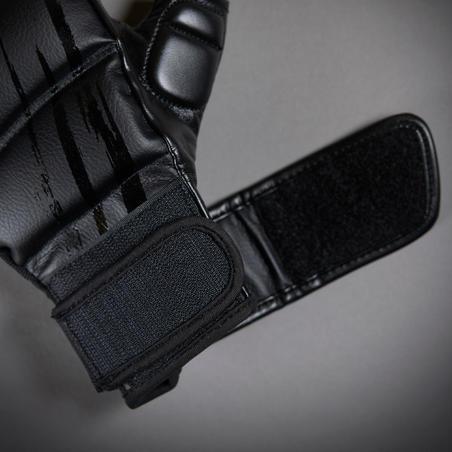 Guantes cortos de cardioboxing CRD 500. Negro.