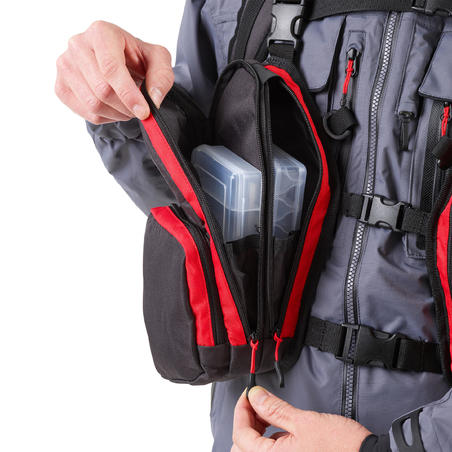 Complete fishing chest pack dark grey