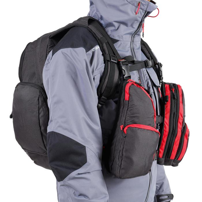 Brusttasche Chest Pack dunkelgrau
