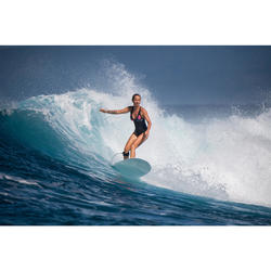 Bañador Deportivo Surf Olaian Mujer Isa Espalda X Transparencias Estampado Flor