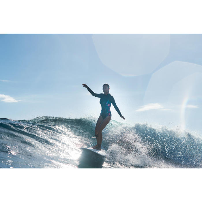 Long-sleeve 1-piece swimsuit with back zip Dani Foamy