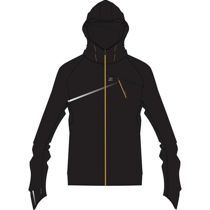 Men's trail windproof trail running jacket black
