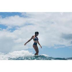 Bikini-Hose Rosa Foamy Surfen hoher und breiter Taillenbund Damen