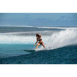 Top Bikini Surf Sujetador Transparencias Olaian Ajuste Espalda Isa Mujer Black