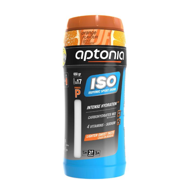 ISO tirpieji milteliai izotoniniam gėrimui paruošti, 650 g – apelsinų skonio