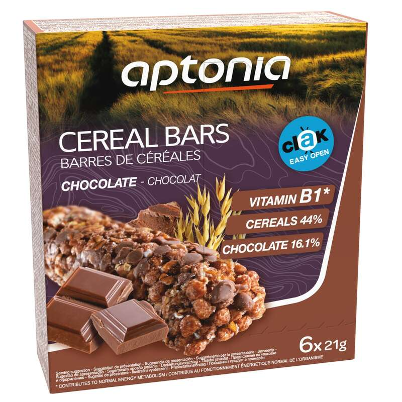 BARS, GELS & AFTER - Chocolate Cereal Bar 6 Pack APTONIA
