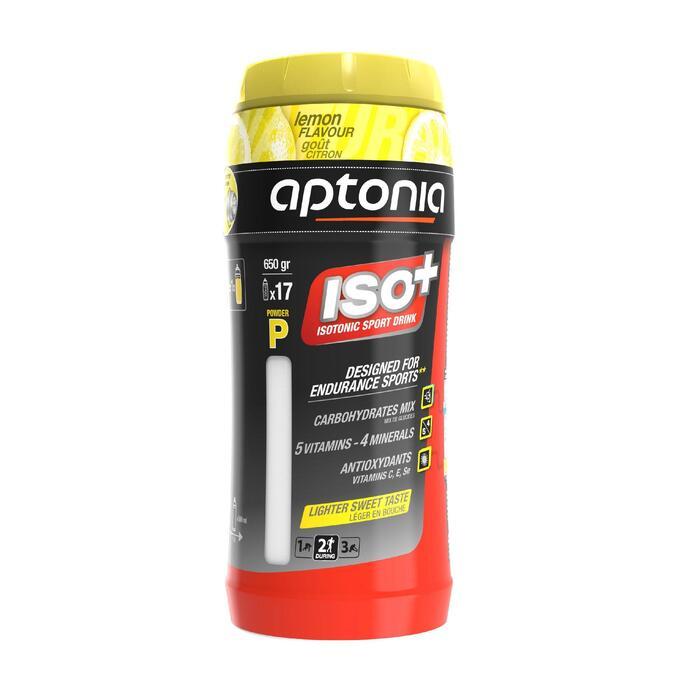 Boisson isotonique poudre ISO+ citron 650g