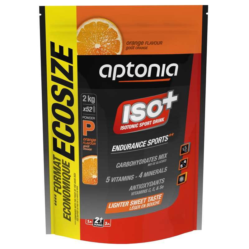 HYDRATION & BEFORE Triathlon - Iso+ Isotonic Energy Powder, Orange - 2kg APTONIA - Triathlon Nutrition and Hydration