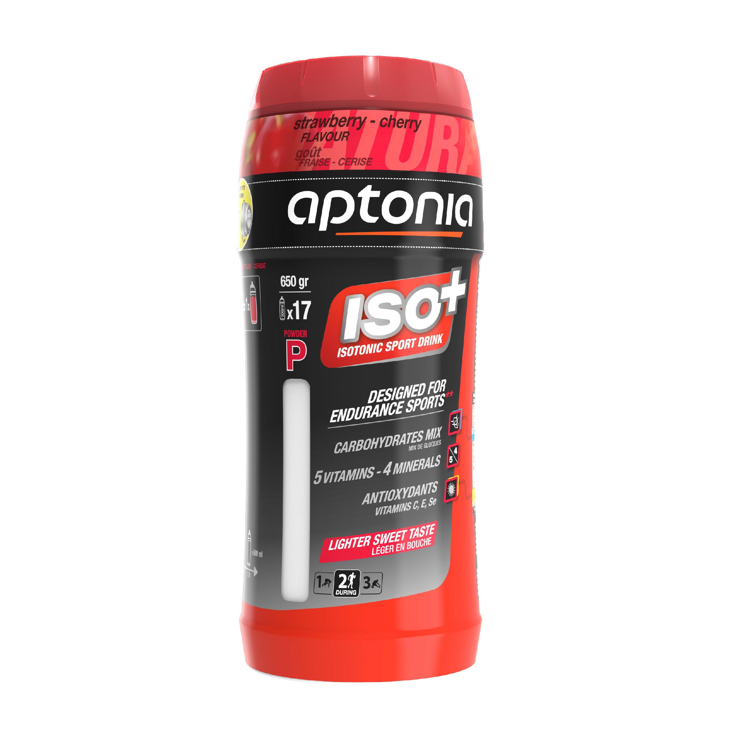 Aptonia Isotone drank in poedervorm ISO+ aardbei-kers 650 g kopen? Sport accessoires met voordeel vind je hier