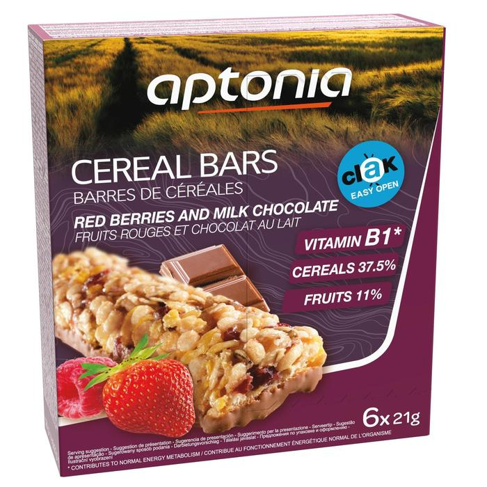 Barrita de cereales CLAK frutos rojos chocolate 6 x 21 g