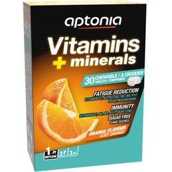 Suplemento alimentar VITAMINAS e MINERAIS Laranja comprimidos x30
