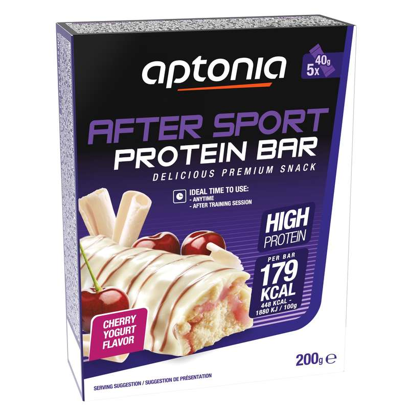 BARS, GELS & AFTER Boxing - PROTEIN BAR 5X40G CHERRY APTONIA - Boxing Nutrition