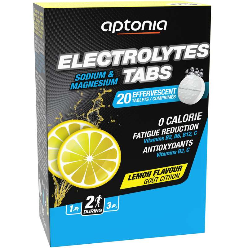 HYDRATION & BEFORE Supplements - ELECTROLYTES TABS 20x4g Lemon APTONIA - Sports and Energy Drinks