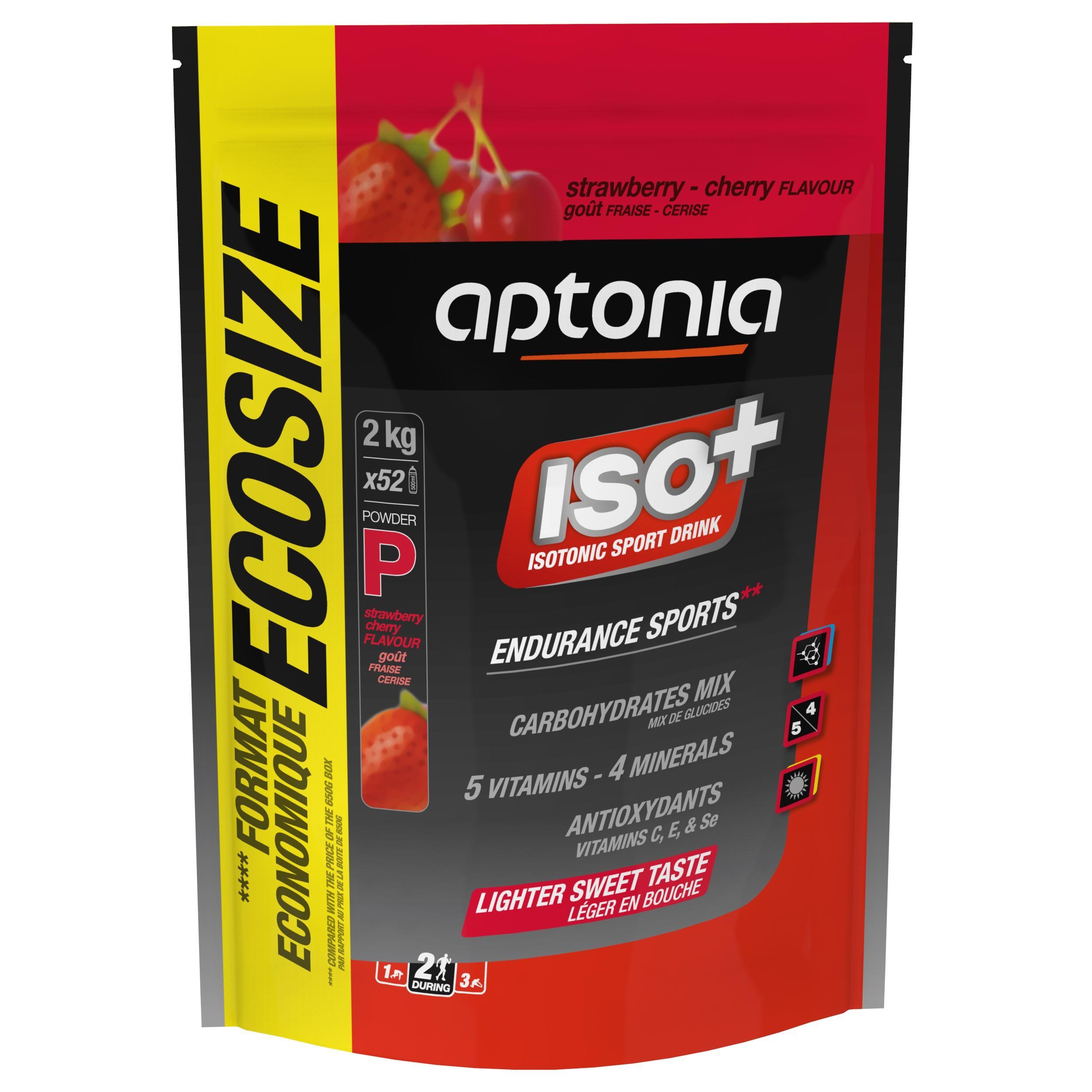 Aptonia Poeder voor isotone dorstlesser ISO+ aardbei/kers 2 kg
