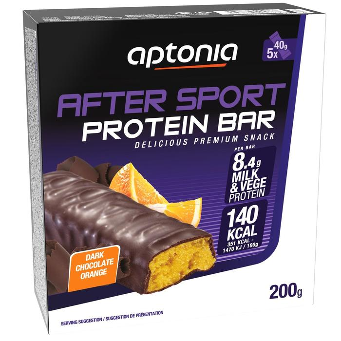 Barrita Proteica Triatlón Aptonia After Sport Naranja 5 X 40 G