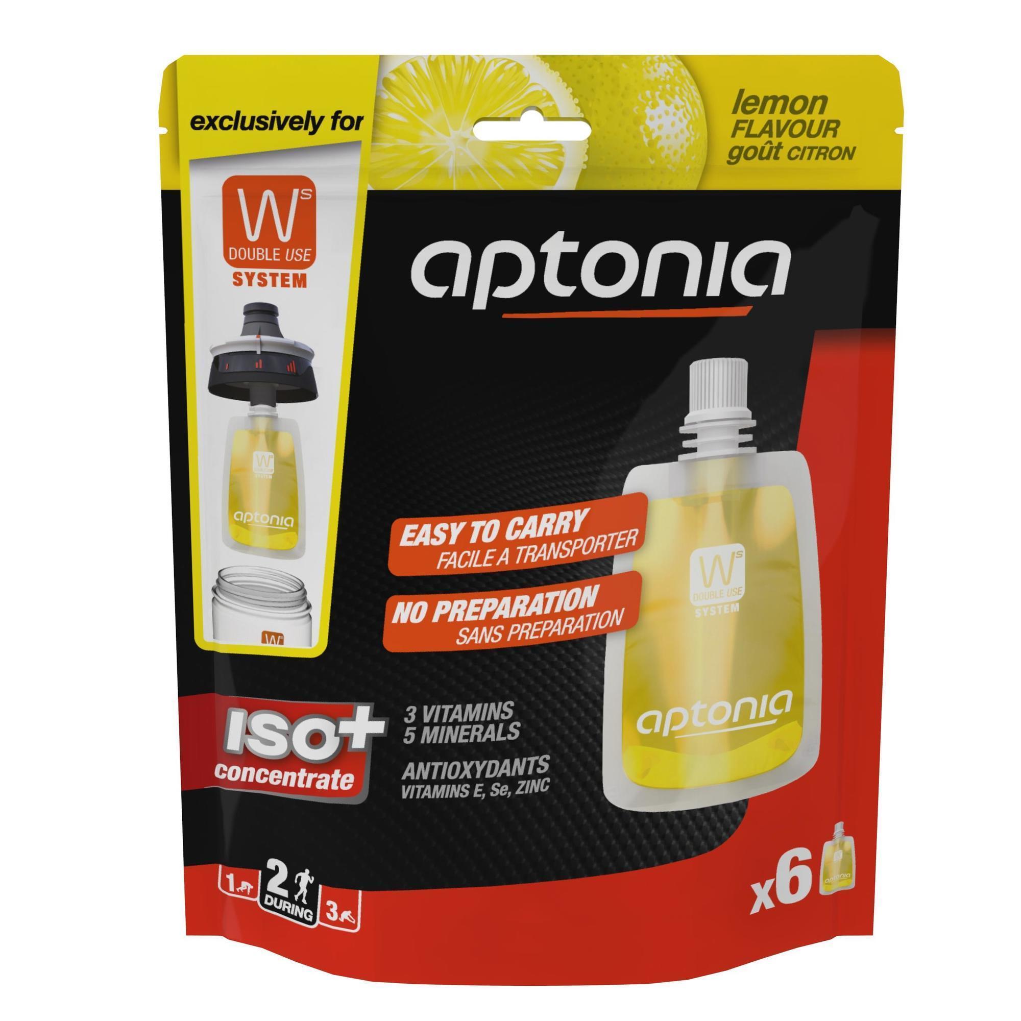 Aptonia Isotone sportdrank zakjes Iso+ citroen 6x 43ml