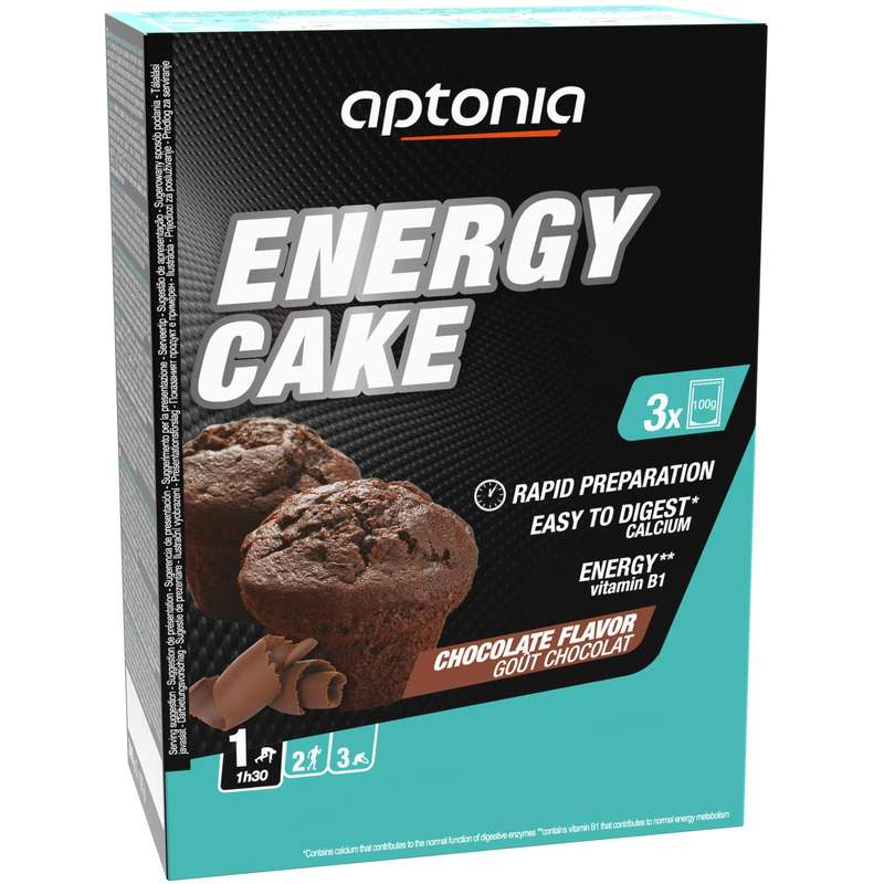 HYDRATION & BEFORE Supplements - ENERGY CAKE 3X100 G CHOC APTONIA - Nutrition and Body Care