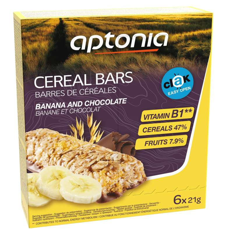 BARS, GELS & AFTER - Cereal Bar 6 x 21 g Banana APTONIA