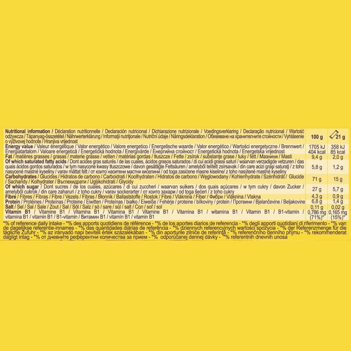 Graanrepen chocolade/banaan Clak 6 x 21 g